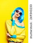 bright glamorous girl in vivid... | Shutterstock . vector #269343233