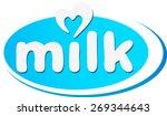 milk   text tag | Shutterstock .eps vector #269344643