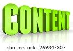 3d content text on white... | Shutterstock . vector #269347307