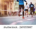 unrecognizable young runners at ... | Shutterstock . vector #269355887
