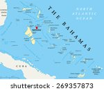 The Bahamas Political Map With...