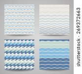set of sea waves. seamless... | Shutterstock .eps vector #269372663