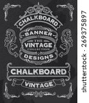 hand drawn blackboard banner... | Shutterstock .eps vector #269375897