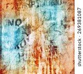 grunge  background  with... | Shutterstock . vector #269381087