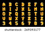 vector retro 3d font. | Shutterstock .eps vector #269393177