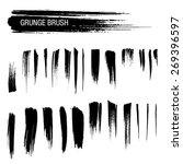 vector set of grunge brush...   Shutterstock .eps vector #269396597