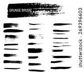 vector set of grunge brush...   Shutterstock .eps vector #269396603