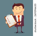 businessman with clipboard and... | Shutterstock .eps vector #269396633