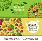 fruits and vegetables vector... | Shutterstock .eps vector #269403953