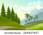 lonely pathway through... | Shutterstock .eps vector #269407457