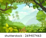 Natural window of forest  | Shutterstock vector #269407463