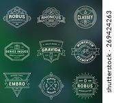 set of hipster vintage labels ... | Shutterstock .eps vector #269424263