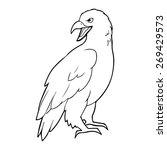 eagle outline illustration | Shutterstock .eps vector #269429573