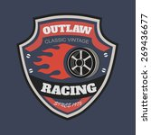 sport racing typography  t... | Shutterstock . vector #269436677