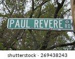paul revere road sign  outside...   Shutterstock . vector #269438243