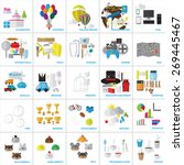 flat icons set  vector... | Shutterstock .eps vector #269445467