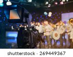television studio with camera... | Shutterstock . vector #269449367