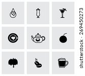 vector beverages icon set on... | Shutterstock .eps vector #269450273