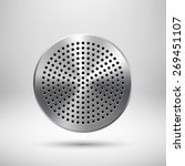 abstract circle badge  audio...