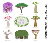 set of rare trees in vector ... | Shutterstock .eps vector #269457233