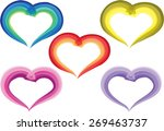 heart shape with butterfly card ... | Shutterstock .eps vector #269463737
