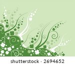 clover leaves on abstract green ... | Shutterstock .eps vector #2694652