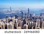 Hong Kong Skyline View From Th...
