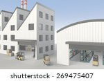 factory and warehouse | Shutterstock . vector #269475407