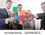 group of business people... | Shutterstock . vector #269485823