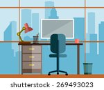business concept a desktop at... | Shutterstock .eps vector #269493023