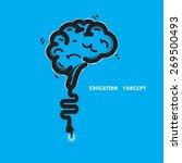brain opening concept.creative... | Shutterstock .eps vector #269500493