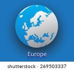 europe vector map.vector globe... | Shutterstock .eps vector #269503337