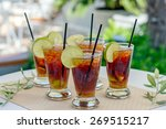 glasses with rum cocktail | Shutterstock . vector #269515217