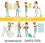 Vector People With Paint And...