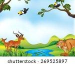 Many Animals Around The Pond