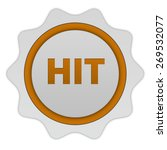 hit circular icon on white... | Shutterstock . vector #269532077