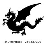 vector sign. dragon. | Shutterstock .eps vector #269537303