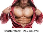 strong athletic man fitness... | Shutterstock . vector #269538593