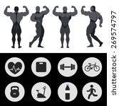 athletes  sports icons  fitness ... | Shutterstock .eps vector #269574797
