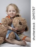 smiling boy with teddy bear | Shutterstock . vector #2695787