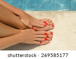 care for beautiful woman legs | Shutterstock . vector #269585177
