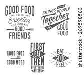 vintage food related... | Shutterstock . vector #269598563