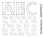 creative font for your design.... | Shutterstock .eps vector #269599517
