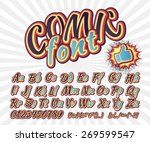 creative high detail font for... | Shutterstock .eps vector #269599547