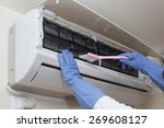air conditioner cleaning | Shutterstock . vector #269608127