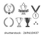 sport prize set | Shutterstock .eps vector #269610437