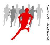 winner finish vector background ... | Shutterstock .eps vector #269638997