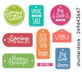 set of colored spring stickers  ... | Shutterstock .eps vector #269643647
