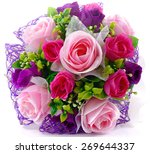 Bouquet Of Pink Purple Roses ...