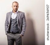 elegant young handsome man in... | Shutterstock . vector #269656937